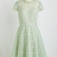 Pastel Mid-length Short Sleeves A-line Belle Bound Dress by Ryu from ModCloth