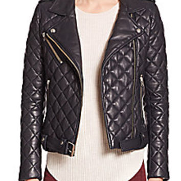 IRO - Keroa Quilted Leather Moto Jacket - Saks Fifth Avenue Mobile