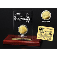 Golden State Warriors 2015 NBA Finals Champions Etched Display Gold Mint Coin