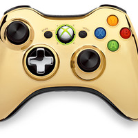 Xbox 360 Special Edition Gold Chrome Wireless Controller for Xbox 360 | GameStop