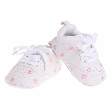 0-1 Years Infant Baby's Ultrasoft Crib Shoes Embroidered Heart fashion Spring Autunn Kids Prewalker