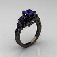 1.76CT BLUE ROUND CUT SOLITAIRE 925 STERLING SILVER ENGAGEMENT RING FOR HER