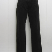 Vintage 90s Calvin Klein CK Jeans Black Denim High Waisted Tapered 26