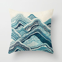 Blue Hike  Throw Pillow by Rskinner1122