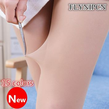 Women's Hosiery Lady Soft Good Quality 15D Spring Color Elastic Seam Patterned Tights