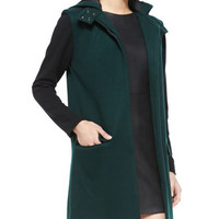Waverly Grey Mia Felt Colorblock Hooded Coat