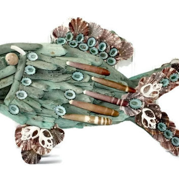 Driftwood Fish Art Sculpture