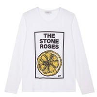 Sandro Roses Knitted T Shirt at Sandro US