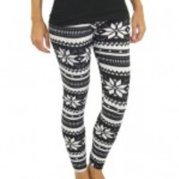 Black And White Printed Leggings - B31