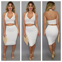 All :: Sets :: Ayla Ribbed Skirt Set