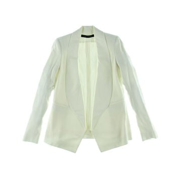 Anthony Vaccarello Womens Solid Long Sleeves Blazer
