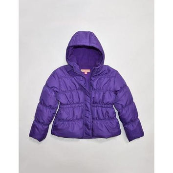 Chinky Minky Toddler Girls Bubble Hooded Jacket