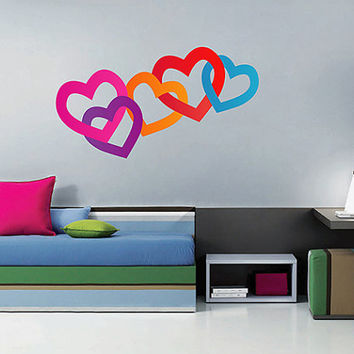 kcik162 Full Color Wall decal heart interweaving living children's room