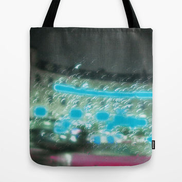City of blinding lights Tote Bag by Julius Marc