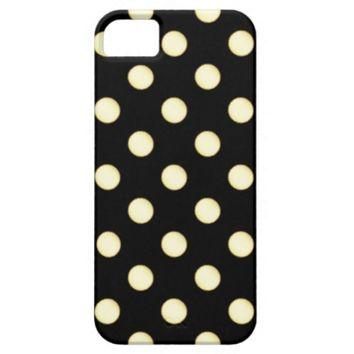 1 Dot Pattern Black - iPhone 5/5S Case