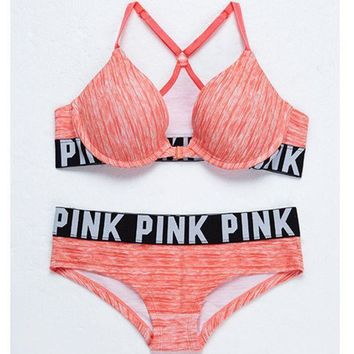 DCCKN6V Victoria's Secret PINK Women's Bra Set G