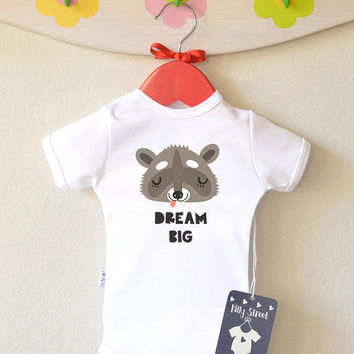 Baby Girl Clothes - Dream Big Baby Shirt Christmas Gift Baby Tee Baby Shower Gift Newborn Outfit Animal Baby Clothes