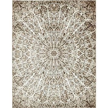 Sofia Brown/Cream Medallion Area Rug (9' x 12') | Overstock.com Shopping - The Best Deals on 7x9 - 10x14 Rugs