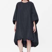 Drawstring-hem dress