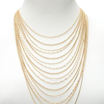 Curb Chain Layered Necklace