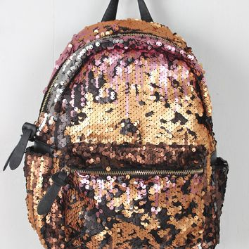 Multicolor Sequin Mini Backpack