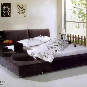 Genuine Leather King Size  Bedroom Furniture