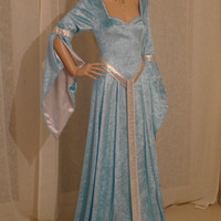 ELVEN DRESS medieval renaissance  fairy dress LOTR hobbit custom made