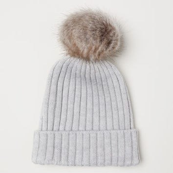 Rib-knit Hat - Light gray - Kids | H&M US