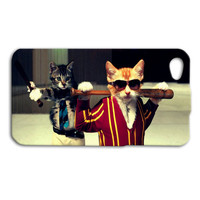 Funny iPhone Case Cat Phone Case Gangster Cute iPod Case Hip Kitty Cats Cover iPhone 4 Case iPhone 5 Case iPhone 4s iPhone 5s iPod 5 Case