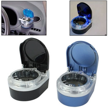Portable LED Light Travel Car Vehicle Automobile Cigarette Ash Tray Ashtray (Random Color Delivery)