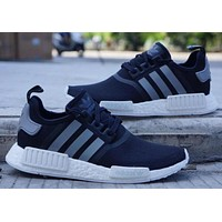 adidas nmd boost women men fashion leisure running sports shoes