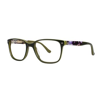 Kensie - Element 53mm Olive Eyeglasses / Demo Lenses
