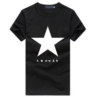 David Bowie heroes star print t shirt homme summer fashion hip hop fitness brand clothing funny casual streetwear men's t-shirts