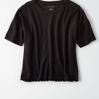 AE Soft Boxy Tee, Washed Black