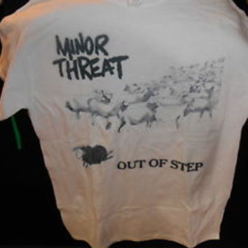 minor threat out of step t shirt punk rock bad brains suicidal tendencies