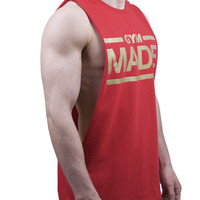 Gym Made Cut Off T Shirt - Red