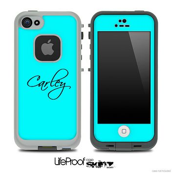 Subtle Blue with Your Name Custom Skin for the iPhone 5 or 4/4s LifeProof Case