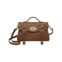 Alexa in Oak Polished Buffalo With Soft Gold | Women's Bags | Mulberry