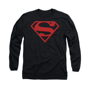 Superboy Logo Mens Long Sleeve T-Shirt