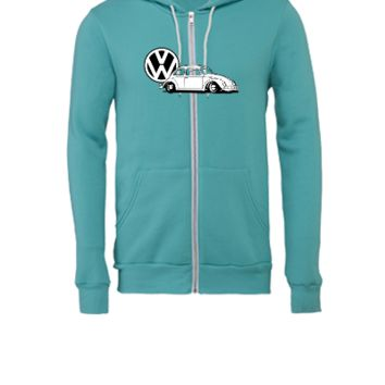 vw beatle - Unisex Full-Zip Hooded Sweatshirt