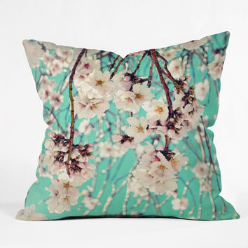 Lisa Argyropoulos Spring Showers Throw Pillow