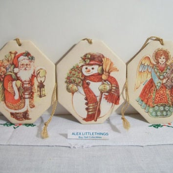Vintage Avon Scented Christmas Ornaments Retro