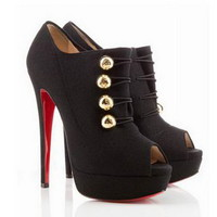 Christian Louboutin Booties Loubout 150mm Flannel Black