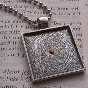 Mustard Seed Necklace - Mustard Seed Faith - Christian Jewelry - Faith Of A Mustard Seed - Baptism - Matthew 17 20 - Antique Silver Necklace