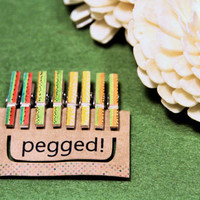 Mini Wooden Pegs in Limited Edition Summer Fruits (Set A) - 8 pack