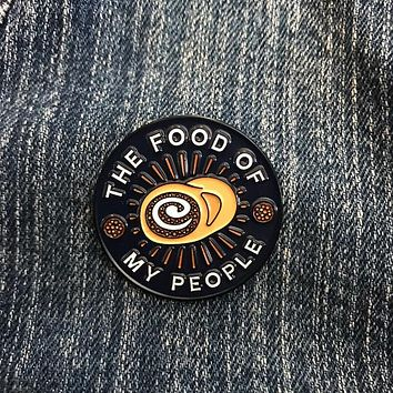 Food Of My People Lapel Pin