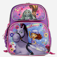 "Disney Sofia the First Girls 12"" Small School Backpack Bag"