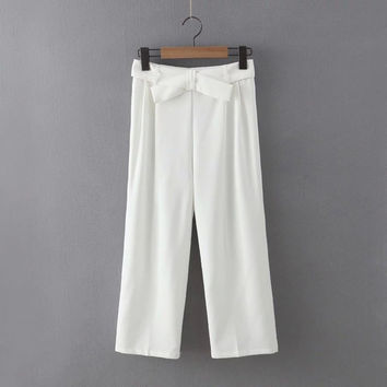 Stylish Summer Butterfly Casual Pants [4919983364]