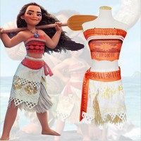 Moana Dress + Necklace Costume