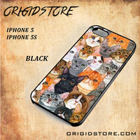 cat collage For Iphone 5 Case - Gift Present Multiple Choice